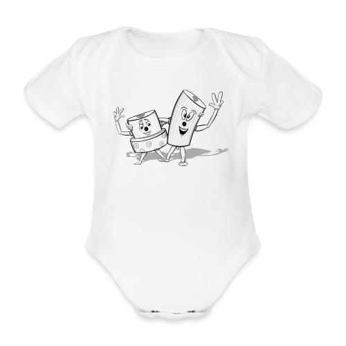 Double Trouble - Kortærmet babybody, økologisk bomuld