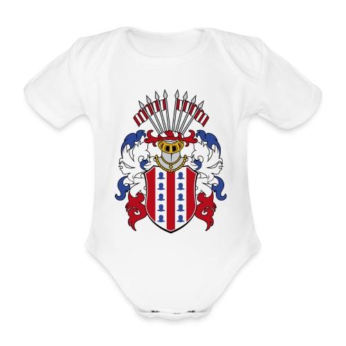 wappen amelunxen historisch - Baby Bio-Kurzarm-Body