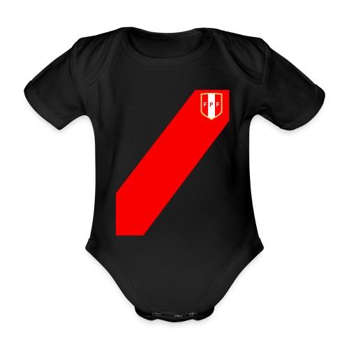 Seleccion peruana de futbol (Recto-verso) - Organic Short-sleeved Baby Bodysuit
