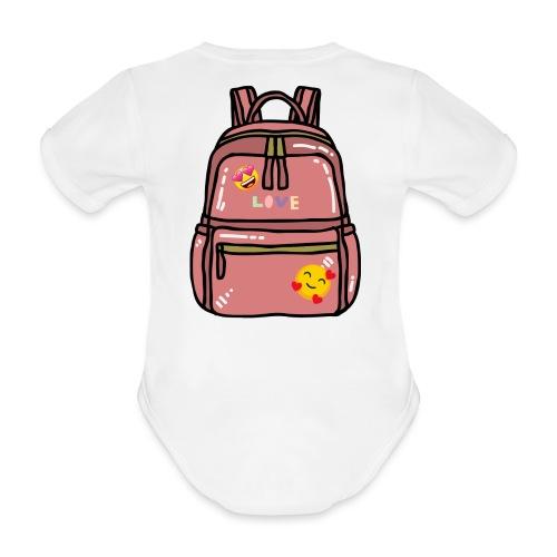 Emoji Backpack - Organic Short-sleeved Baby Bodysuit