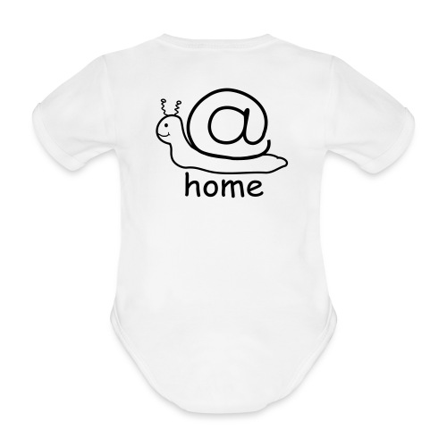 at home schnecke - Baby Bio-Kurzarm-Body