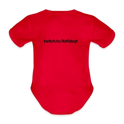 Fido - Twitch Link - Kortærmet babybody, økologisk bomuld