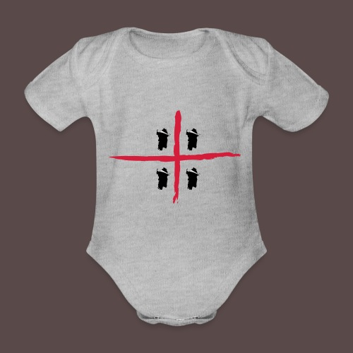 Sardegna Bendata, 4 Mori orizzontale - Body ecologico per neonato a manica corta