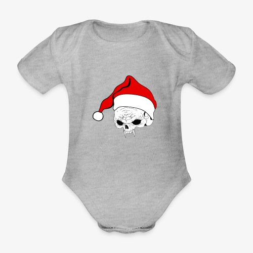 pnlogo joulu - Organic Short-sleeved Baby Bodysuit