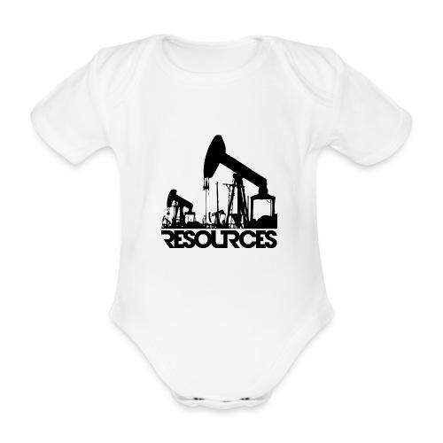 App Icon randlos schwarz - Baby Bio-Kurzarm-Body