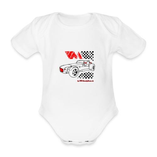 77 vm schwarz - Baby Bio-Kurzarm-Body