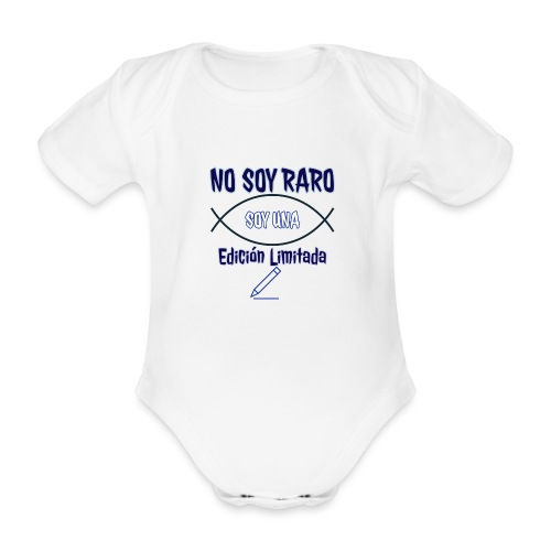 Edicion limitada - Body orgánico de maga corta para bebé