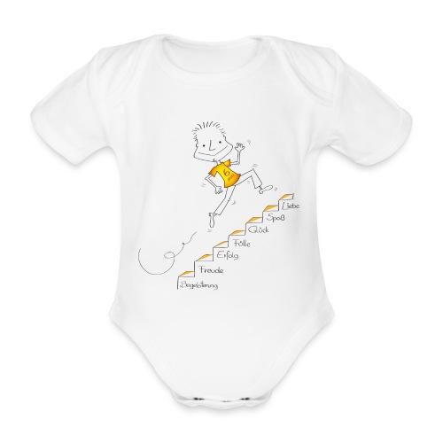 Der kleine Coach - Treppe - Baby Bio-Kurzarm-Body