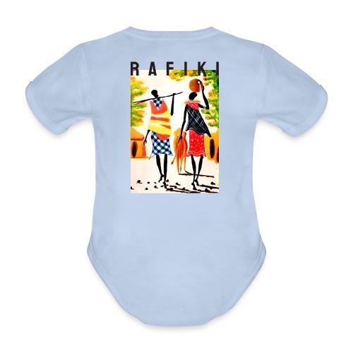 Sct Gemma – Rafiki = Friend - Kortærmet babybody, økologisk bomuld