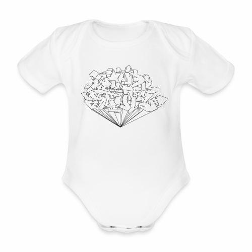 wild style ver01 Trick Aod - Kortærmet babybody, økologisk bomuld