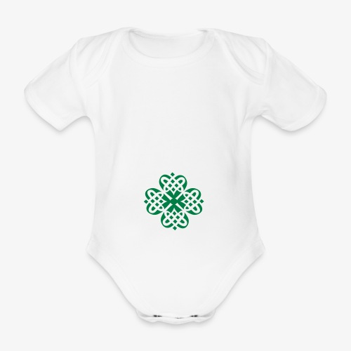 Shamrock Celtic knot decoration patjila - Organic Short-sleeved Baby Bodysuit