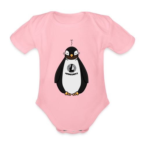 DerLeeZockt Pingu Tasse - Organic Short-sleeved Baby Bodysuit