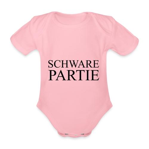 schwarePartie png - Baby Bio-Kurzarm-Body