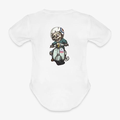 Skullterist + Vintage Logo - Baby Bio-Kurzarm-Body