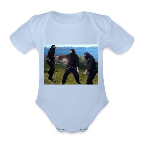 Chasvag ninja - Økologisk kortermet baby-body