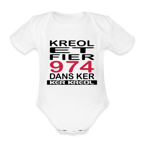 Kreol et Fier dans Ker - Body Bébé bio manches courtes