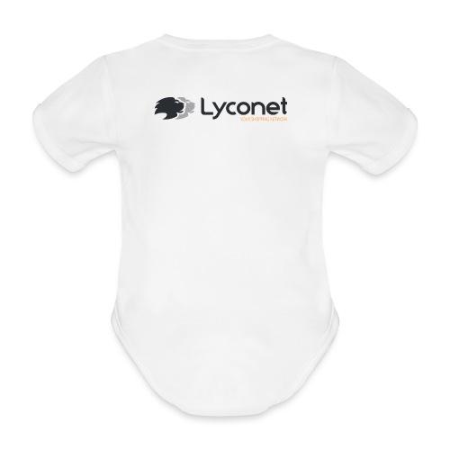 Lyconet White - Body ecologico per neonato a manica corta