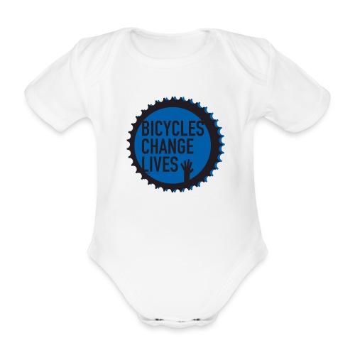 BCL Blue Cog - Organic Short-sleeved Baby Bodysuit