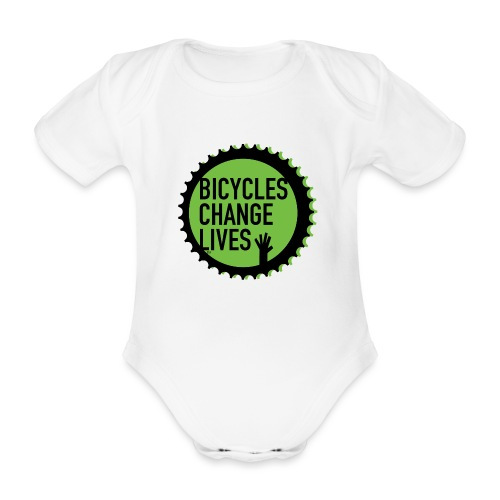 BCL Green Cog - Organic Short-sleeved Baby Bodysuit