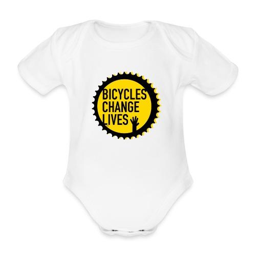 BCL Yellow Cog - Organic Short-sleeved Baby Bodysuit