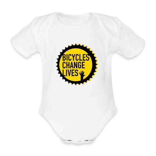 BCL Yellow Cog - Organic Short-sleeved Baby Bodysuit