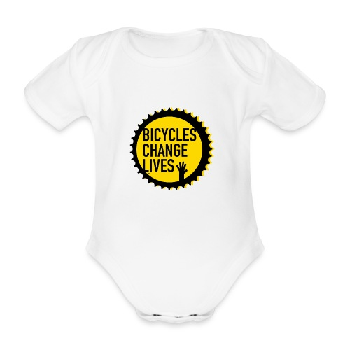 BCL Shirt Back Black - Organic Short-sleeved Baby Bodysuit
