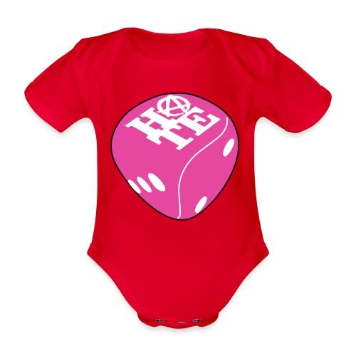 Pink - Organic Short-sleeved Baby Bodysuit