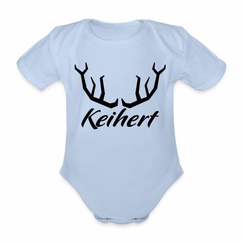 Keihert gaan - Baby bio-rompertje met korte mouwen