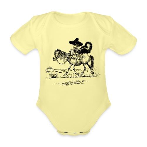 Thelwell Cowboy mit einem Stinktier - Baby Bio-Kurzarm-Body