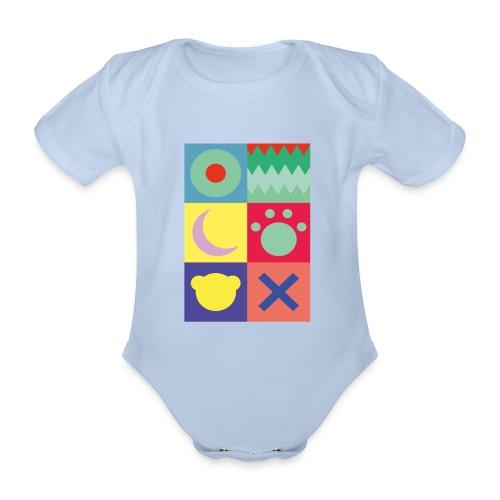 Ostfriesland Wappen - Minimalistisch - Baby Bio-Kurzarm-Body