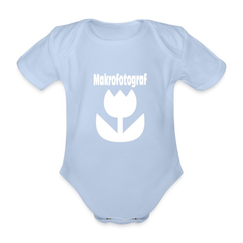 Icon Symbol Blume Makrofotografie Makrofotograf - Baby Bio-Kurzarm-Body