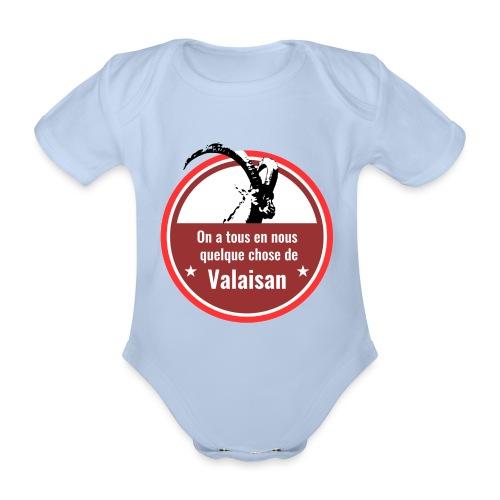 On a tous en nous qqch de Valaisan - Steinbock - Baby Bio-Kurzarm-Body