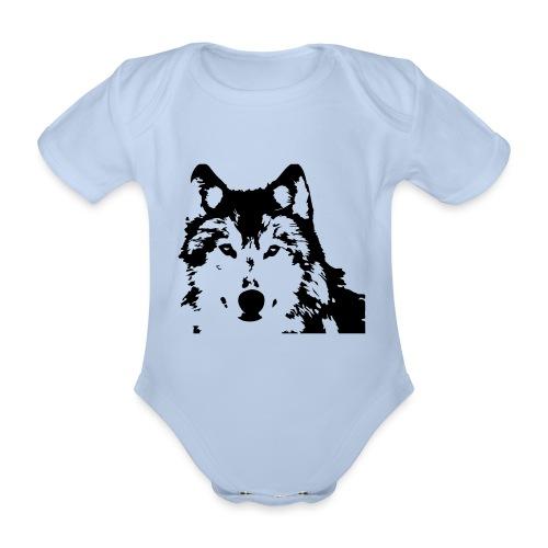 Wolf - Loup - Husky - Baby Bio-Kurzarm-Body