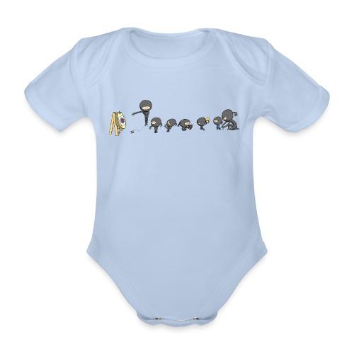 ninja school - Organic Short-sleeved Baby Bodysuit