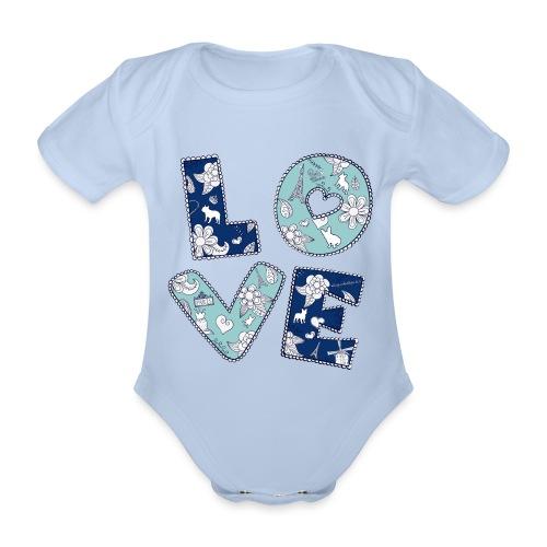 loveblume2a png - Baby Bio-Kurzarm-Body