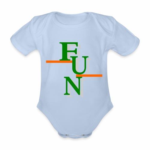 Fun 1 - Organic Short-sleeved Baby Bodysuit