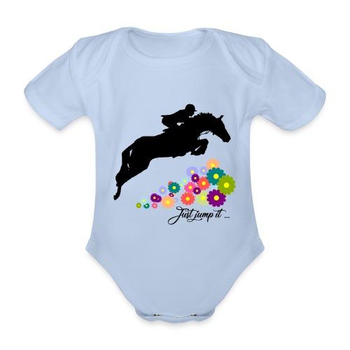 KONIE skoki just jump it - Ekologiczne body niemowlęce z krótkim rękawem