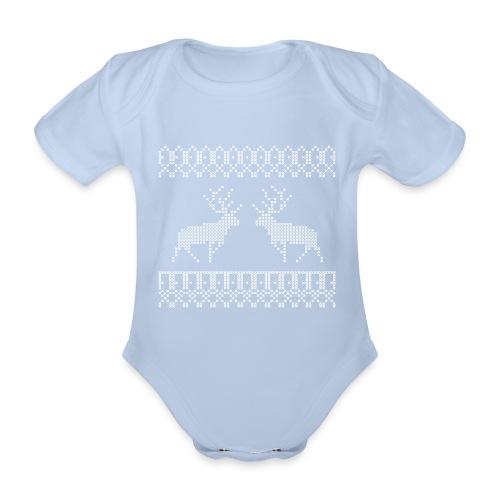 Rendier - Baby bio-rompertje met korte mouwen