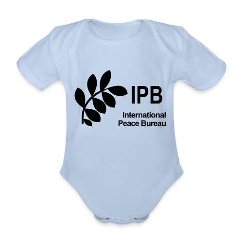 International Peace Bureau IPB Logo black - Organic Short-sleeved Baby Bodysuit