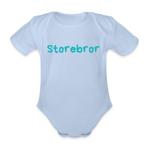 Storebror - Økologisk kortermet baby-body
