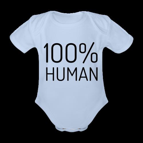 100% Human - Baby bio-rompertje met korte mouwen