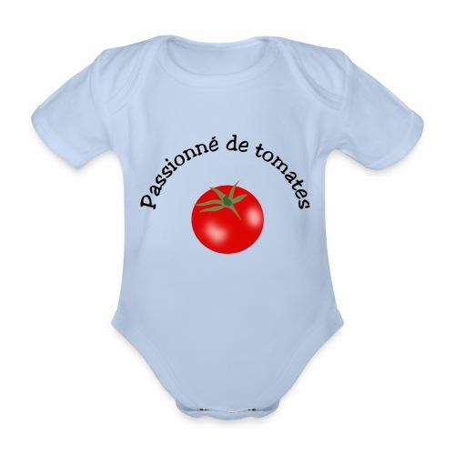 Tomate rouge - Organic Short-sleeved Baby Bodysuit