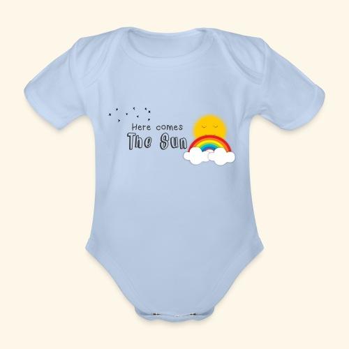 Here comes the sun - Body orgánico de maga corta para bebé