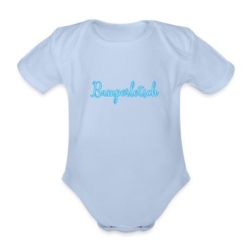 Bamperletsch in Blau - Baby Bio-Kurzarm-Body