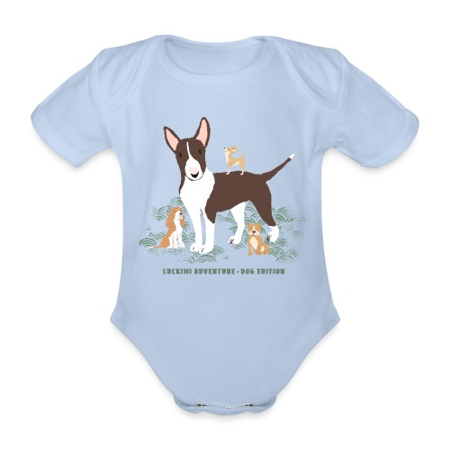 Dog edition Children - Organic Short-sleeved Baby Bodysuit