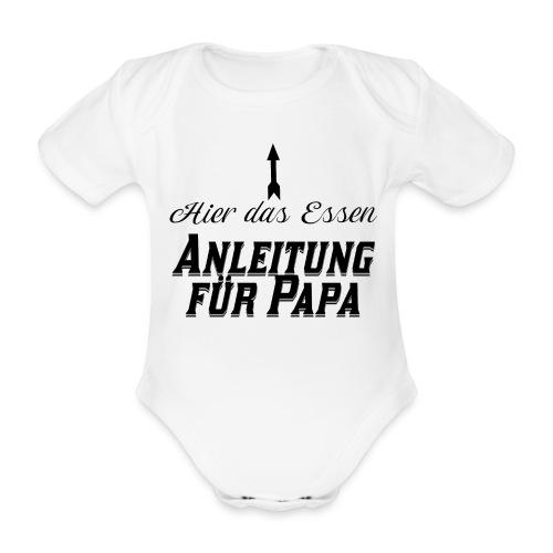 Hier das Essen Anleitung für Papa Baby Geschenk - Baby Bio-Kurzarm-Body