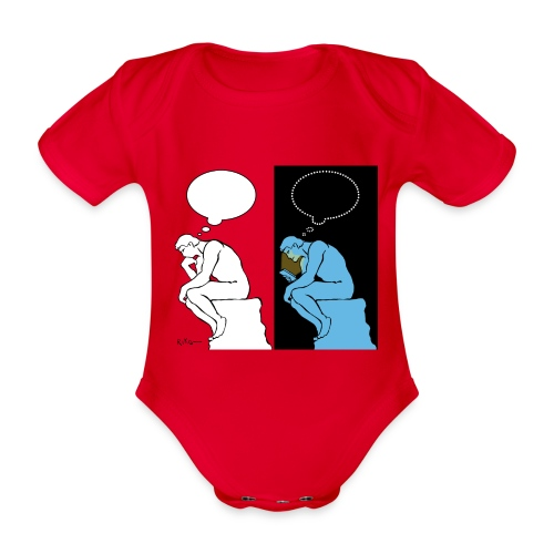The Thinker - Organic Short-sleeved Baby Bodysuit