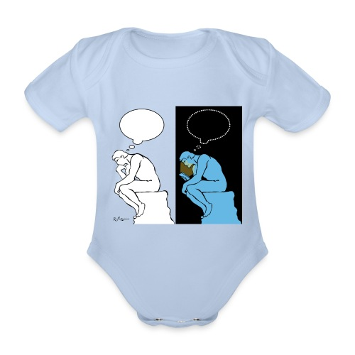 The Thinker - Organic Short-sleeved Baby Bodysuit