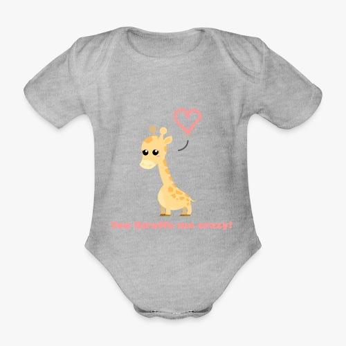 Giraffe Me Crazy - Kortærmet babybody, økologisk bomuld