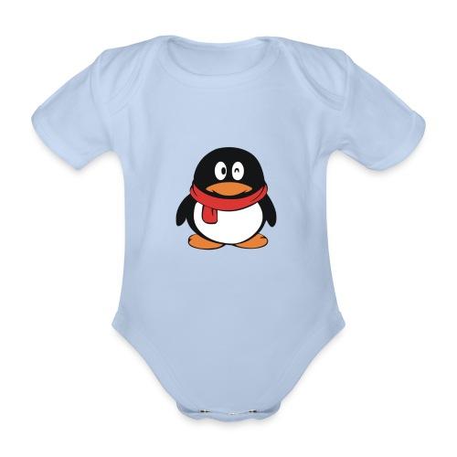 pinguinlog png - Baby bio-rompertje met korte mouwen